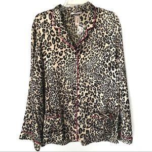 Victoria's Secret Leopard Button Down Top